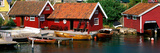 Boat Houses Norway Photographic Print