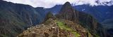 Ruins of Buildings at an Archaeological Site, Inca Ruins, Machu Picchu, Cusco Region, Peru Reprodukcja zdjęcia