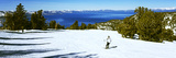 Tourist Skiing in a Ski Resort, Heavenly Mountain Resort, Lake Tahoe, California-Nevada Border, USA Photographic Print
