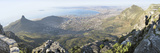 High Angle View of a Coastline, Table Mountain, Cape Town, South Africa Fotografisk tryk