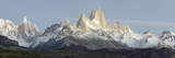 Low Angle View of Mountains, Mt Fitzroy, Cerro Torre, Argentine Glaciers National Park Photographic Print