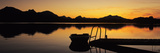 Lake Hopfensee at Sunset, Ostallgau, Bavaria, Germany Photographic Print