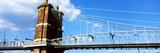 John A. Roebling Suspension Bridge across the Ohio River, Cincinnati, Hamilton County, Ohio, USA Photographic Print