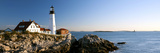 Lighthouse on the Coast, Portland Head Lighthouse, Ram Island Ledge Light, Portland Photographic Print