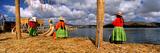 Aymara Women on Floating Island, Lake Titicaca, Peru Photographic Print