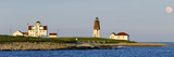 Lighthouse on the Coast, Point Judith Lighthouse, Narragansett Bay, Washington County Fotografie-Druck