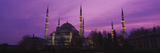 Mosque Lit Up at Dusk, Blue Mosque, Istanbul, Turkey Photographic Print
