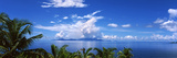 Indian Ocean with Palm Trees Towards Mahe Island Looking from North Island, Seychelles Photographic Print