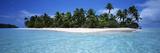Tapuaetai Motu from the Lagoon, Aitutaki, Cook Islands Photographic Print