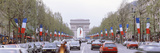 Traffic on a Road, Arc De Triomphe, Champs Elysees, Paris, France Photographic Print
