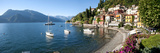 Early Evening View of Waterfront at Varenna, Lake Como, Lombardy, Italy Photographic Print