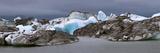 Icebergs and Volcanic Ash, Jokulsarlon Lagoon, Iceland Photographic Print