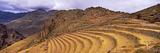 Terraced Fields at Mountainside, Machu Picchu, Cusco Region, Peru, South America Photographic Print