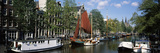 Boats in a Channel, Amsterdam, Netherlands Photographic Print