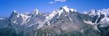 Low Angle View of Mountains, Mt Eiger, Mt Monch, Mt Jungfrau, Bernese Oberland Lámina fotográfica