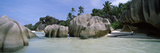Granite Rocks at the Coast, Anse Source D'Argent, La Digue Island, Seychelles Photographic Print
