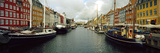 Boats in a Canal, Nyhavn, Copenhagen, Denmark Photographic Print