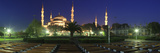 Mosque Lit Up at Night, Blue Mosque, Istanbul, Turkey Photographic Print