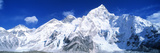 Mts Everest and Nuptse Sagamartha National Park Nepal Photographic Print