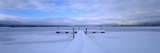 Snow Covered Pier, Mccall, Valley County, Idaho, USA Photographic Print
