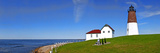 Lighthouse on the Coast, Point Judith Lighthouse, Narragansett Bay, Rhode Island, USA Photographic Print