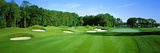 Sand Traps in a Golf Course, River Run Golf Course, Berlin, Worcester County, Maryland, USA Fotografie-Druck