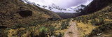 Trail with Snowcapped Mountains in a Valley, Machu Picchu, Cusco Region, Peru, South America Photographic Print