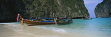 Longtail Boats Moored on the Beach, Ton Sai Beach, Ko Phi Phi Don, Phi Phi Islands, Thailand Photographic Print