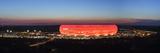 Soccer Stadium Lit Up at Dusk, Allianz Arena, Munich, Bavaria, Germany Fotografisk trykk