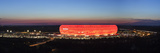 Soccer Stadium Lit Up at Dusk, Allianz Arena, Munich, Bavaria, Germany Fotodruck