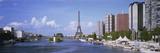 Seine River Paris France Fotografisk tryk