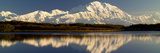 Reflection of Snow Covered Mountains on Water, Mt Mckinley, Denali National Park, Alaska, USA Photographic Print