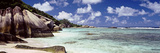 Crystal Clear Waters and Large Granite Rocks on Anse Source D'Argent Beach, La Digue Island Photographic Print