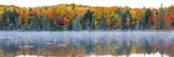 Trees in Autumn at Lake Hiawatha, Alger County, Upper Peninsula, Michigan, USA Photographic Print