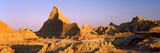 Rock Formations in a Desert, Badlands National Park, South Dakota, USA Photographic Print