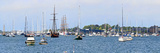 Sailboats in an Ocean, Newport Harbor, Newport, Rhode Island, USA Photographic Print
