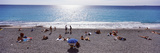 Tourists on the Beach Along Quai Des Etats-Unis, Nice, Alpes-Maritimes Photographic Print