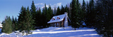 Log House in Winter Laurentides Quebec Canada Photographic Print
