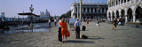 Tourists at a Town Square, St. Mark's Square, Venice, Veneto, Italy Photographic Print