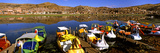Paddle Boats on Lake Titicaca, Puno, Peru, South America Photographic Print