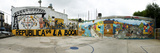 Mural Painted at Basketball Court, La Boca, Buenos Aires, Argentina Photographie