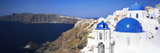 Blue Domes of a Church, Oia, Santorini, Cyclades Islands, Greece Photographic Print