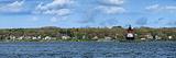 Lighthouse on the Coast, Plum Beach Lighthouse, Narragansett Bay, Jamestown, Rhode Island, USA Photographic Print