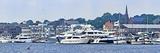 Boats at a Harbor, Newport Harbor, Newport, Rhode Island, USA Photographic Print