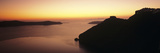 Silhouette of Cliffs at Sunset, Imerovigli, Santorini, Cyclades Islands, Greece Fotografická reprodukce
