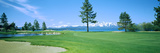 Sand Trap in a Golf Course, Edgewood Tahoe Golf Course, Stateline, Douglas County, Nevada Papier Photo
