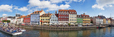 Tourists in a Tourboat with Buildings Along a Canal, Nyhavn, Copenhagen, Denmark Photographic Print