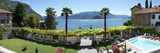 Pool Area and View of Lake Como from Royal Victoria Hotel, Varenna, Lombardy, Italy Photographic Print