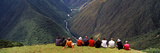 Group of Tourists Looking at a Valley, Urubamba Valley, Machu Picchu, Cusco Region, Peru Photographic Print