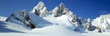 Snow Covered Mountains in Winter, Upper Fox Glacier, South Island, New Zealand Photographic Print